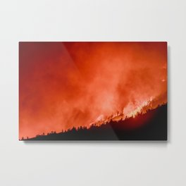Burning Fire in the Forest | Nature and Landscape Photography Metal Print