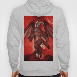 Awesome creepy creature in red colors Hoody