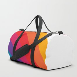 Retro Bright Rainbow - Right Side Duffle Bag
