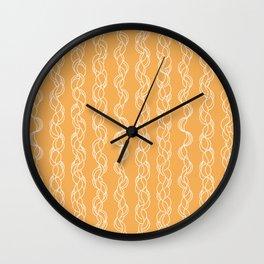Braids XXXII - Kumquat Wall Clock