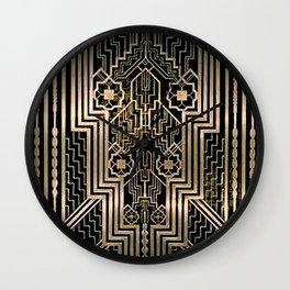Art Nouveau Metallic design Wall Clock
