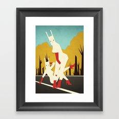 roadside bunnies Framed Art Print