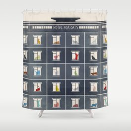 hotel for cats Shower Curtain