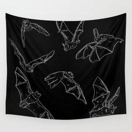 Flying Bats Pattern Wall Tapestry