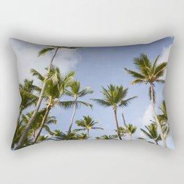 Palmy Blue. Rectangular Pillow