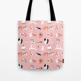 Dogs, Dogs, Dogs Pink Tote Bag