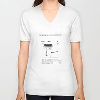 instagram V-neck T-shirts featuring instagram fucker by Jonathan Evans