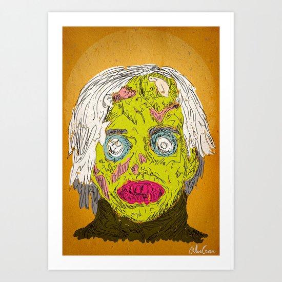 Zombie Warhol Art Print