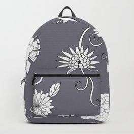 Sweet daisies on pencil gray Backpack