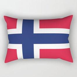 Norway flag emblem Rectangular Pillow