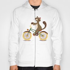 Raccoon on a bicycle Hoody