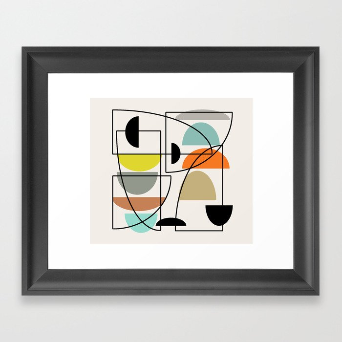 """Mid Century Modern """"Bowls"""" Gerahmter Kunstdruck"""