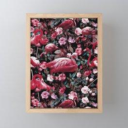 Floral and Flamingo VIII pattern Framed Mini Art Print