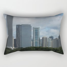 Chicago Skyline, Cloudy Day in Chicago Rectangular Pillow