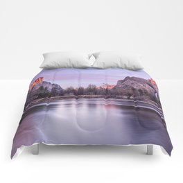 Yosemite National park sunset Comforters