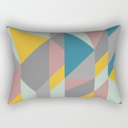 Modern Geometric Abstraction in Soft Earthy Colors Rectangular Pillow