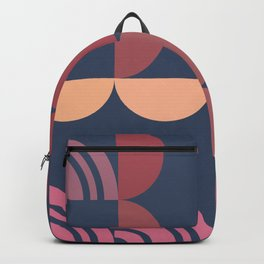 Hedgehog abstract geometric pattern with colorful shapes 206 Backpack
