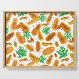 Papayas Pattern Serving Tray