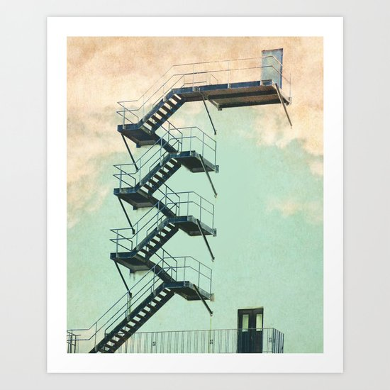 Stairway to the Clouds Art Print