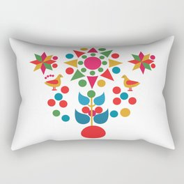 Sun, star and birds Rectangular Pillow
