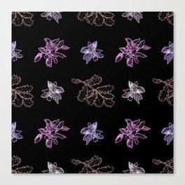 Quercus (black, purple) Canvas Print