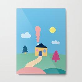 House landscape Metal Print