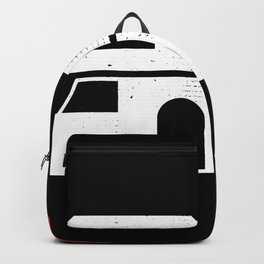 Retro Motorhome and Christmas Hat Gift Backpack