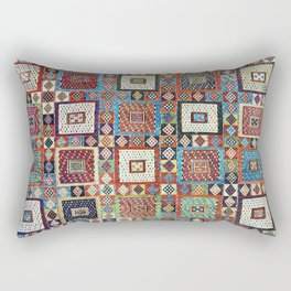Zili East Anatolia Antique Turkish Rug Print Rectangular Pillow