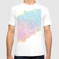 Swirling clouds in the heavens White MEDIUM Mens Fitted Tee