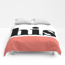 """his"" (color block) Comforters"