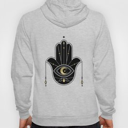 Hamsa Hand in Black Hoody