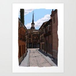 Alcalá streets Art Print