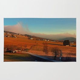 Clouds over the mountains II   landscape photography Rug