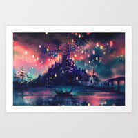 colour Art Prints featuring The Lights by Alice X. Zhang
