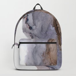 Gray Abstract monochromatic slush Backpack
