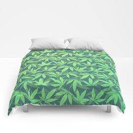 Cannabis / Hemp / 420 / Marijuana  - Pattern Comforters