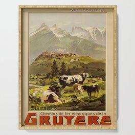 manifesto Gruyere voyage poster Serving Tray