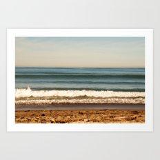 Layer Cake. Beach photograph Art Print