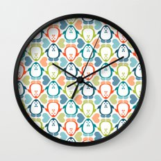 NGWINI - penguin love pattern 5 Wall Clock