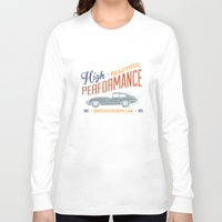 sport Long Sleeve T-shirts featuring Vintage British Sport Car by Thyme
