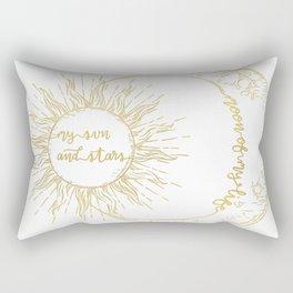 Moon of My Life. My Sun and Stars Gold Rectangular Pillow