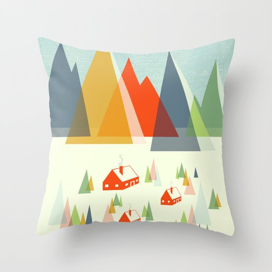 The Foothills Throw Pillow
