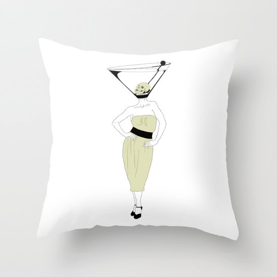 LIQUID DINNER PARTY DARLING, ANOTHER MARTINI? Throw Pillow