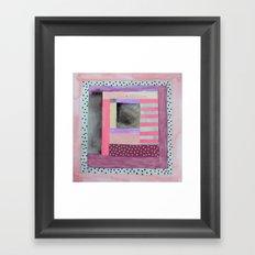 Dots and Stripes  Framed Art Print