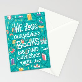 Lose ourselves in books Stationery Cards