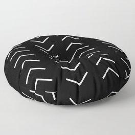 White Arrows Floor Pillow