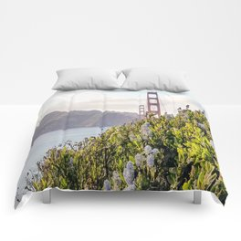 The Golden Gate Bridge in Spring Comforters