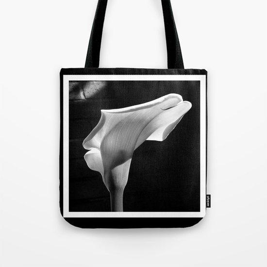 sensual lily on brick (square) Tote Bag