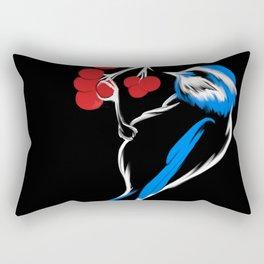 Titmouse and berries Rectangular Pillow
