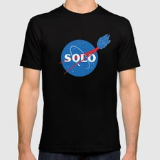SOLO Mens Fitted Tee Black LARGE